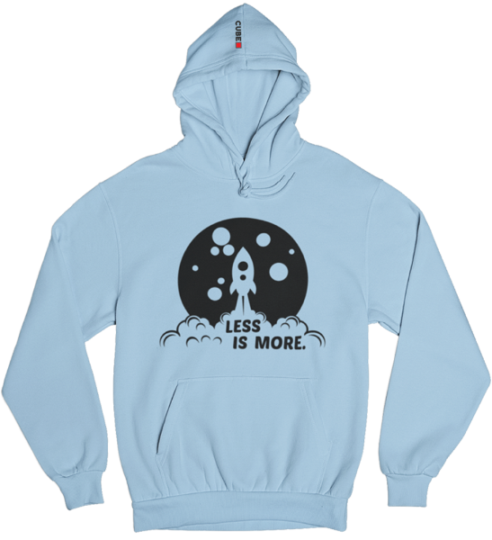 "Hoodie ""Less is more"""
